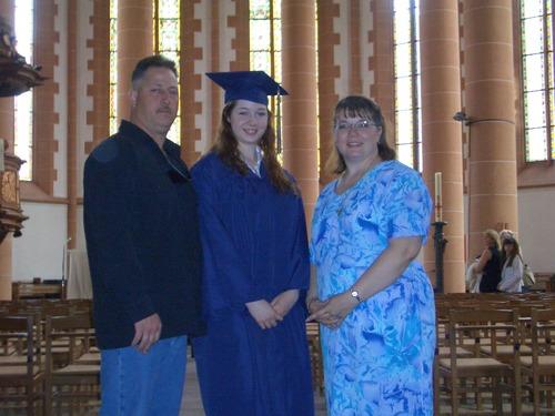 Proud parents with Grad